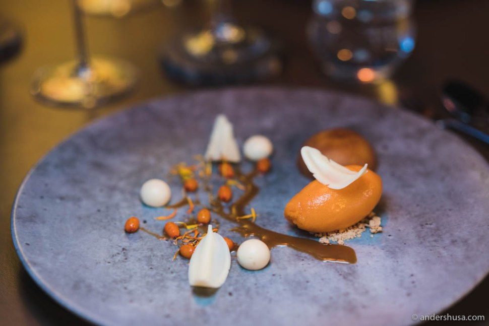 One of the desserts at restaurant Tango in Stavanger.