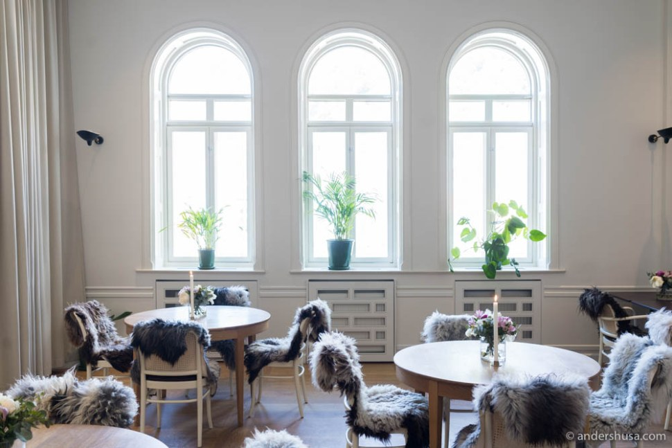 The beautiful dining room at Bare Restaurant