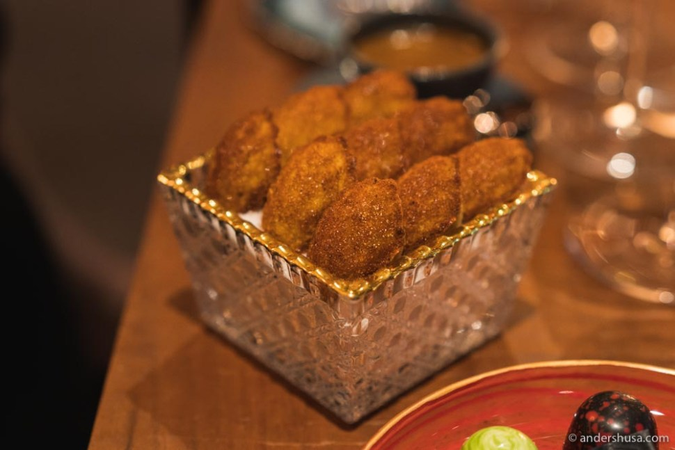 Nine light as air brown butter madeleines. I could probably eat ninety-nine