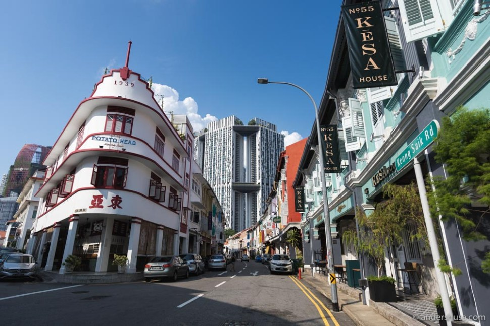 KēSa House is located smack in the middle of Chinatown, Singapore.