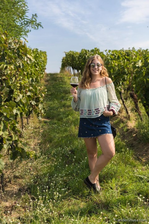 Kaitlin in the vineyard where the magic happens.