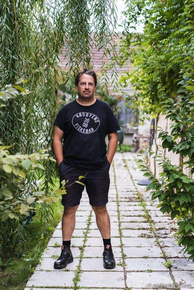 Christian Tschida at home.