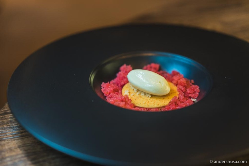 At no. 14 is this dessert from Rest in Oslo, Norway.