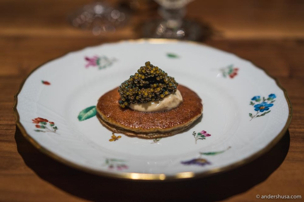 At no. 4 are the banana pancakes with caviar from Angler in Los Angeles, USA.