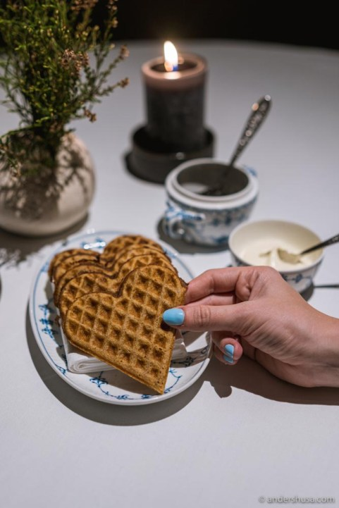 The ox fat waffles became a signature dish at Maaemo – will we still see them on the menu at Maaemo 2.0?