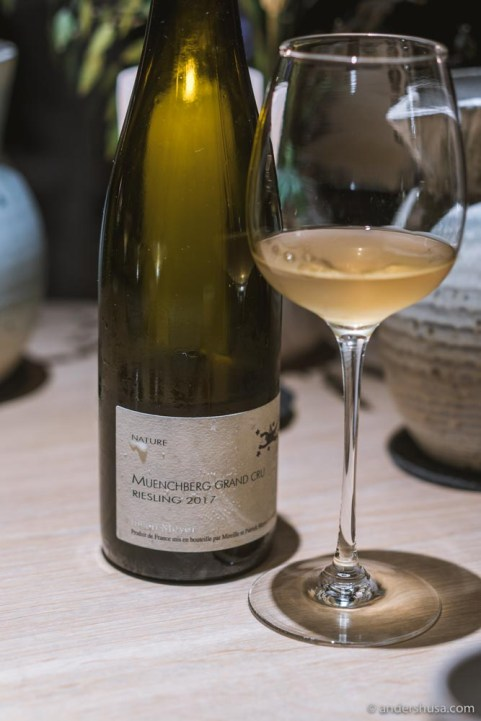 2017 Muenchberg Riesling by Julien Meyer.