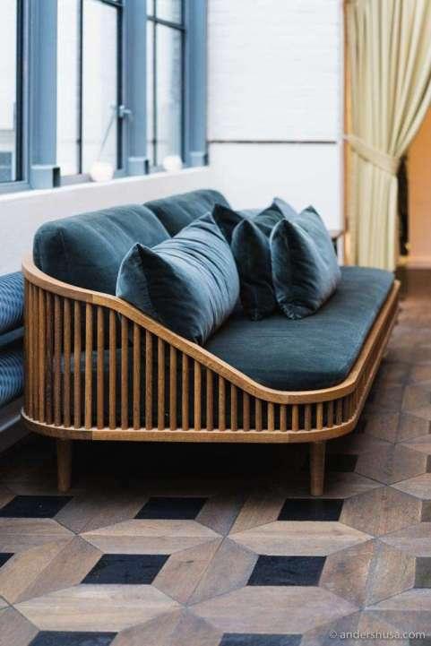 Alouette's furniture is designed by Københavns Møbelsnedkeri.