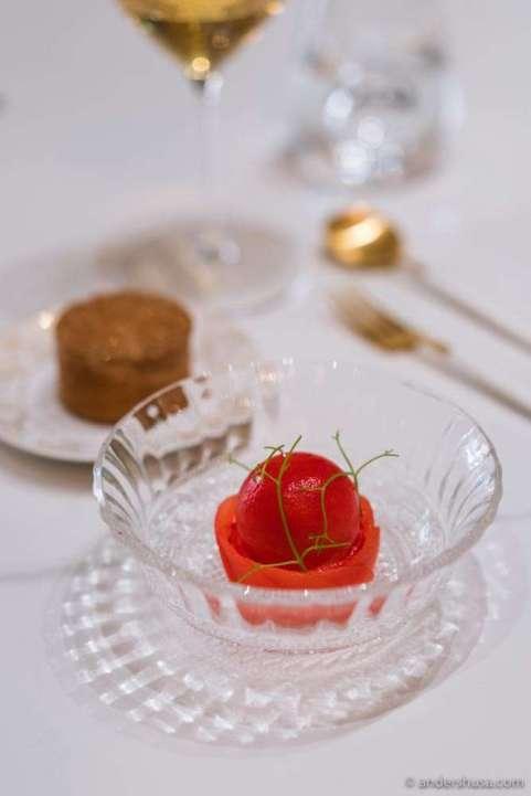A dessert on Norwegian Ingrid Marie apple.