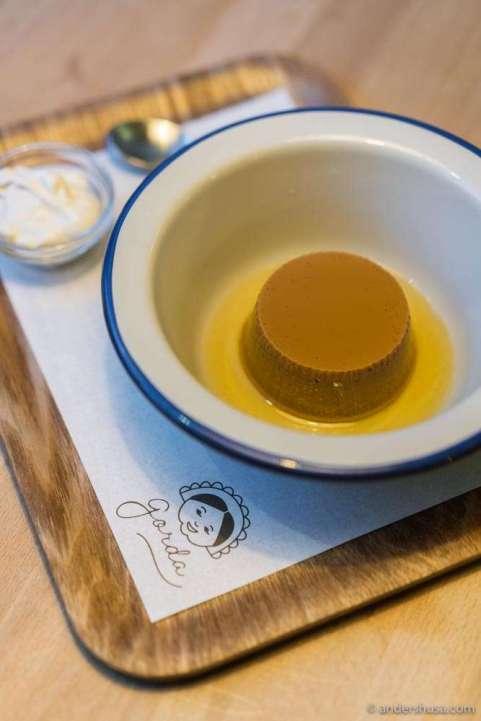Gorda's signature dulce de leche flan.
