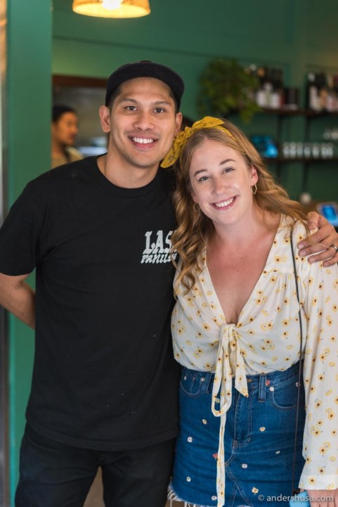 Kaitlin and Chase Valencia, general manager of LASA.