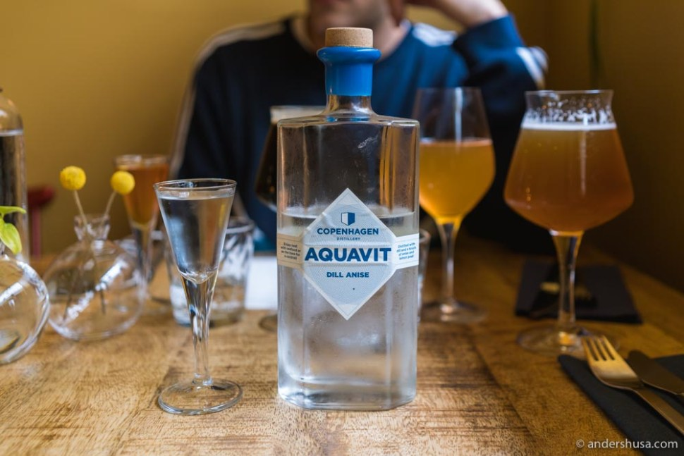 Copenhagen Distillery aquavit with dill and anise.