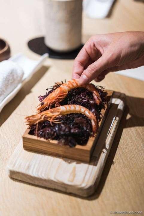 Kuruma prawns from Hokkaido.