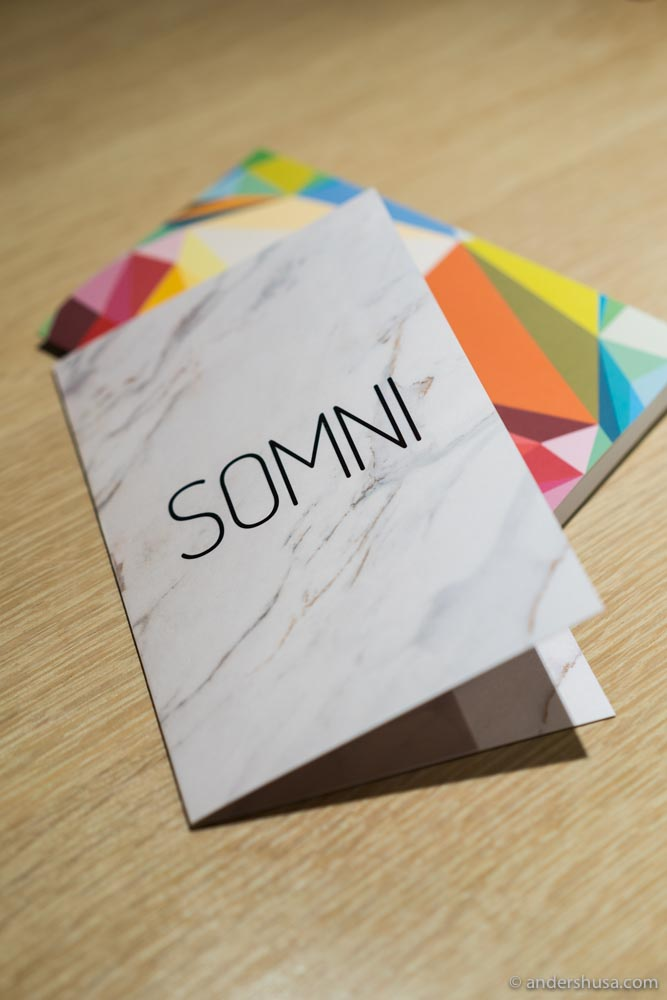 Somni was awarded two Michelin stars in 2019.