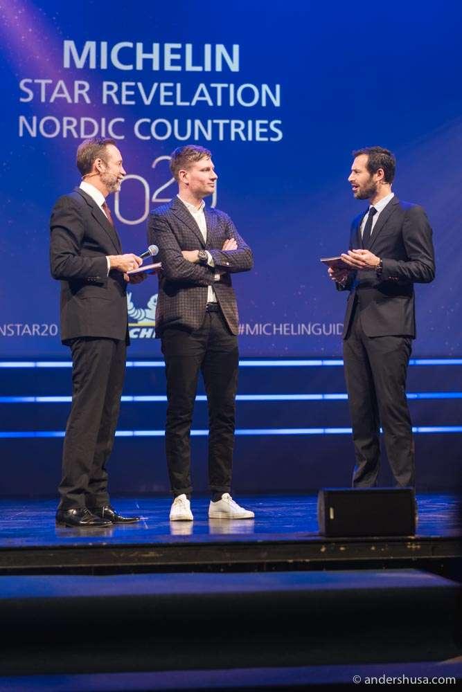 Esben Holmboe Bang and Maaemo list all their three stars.