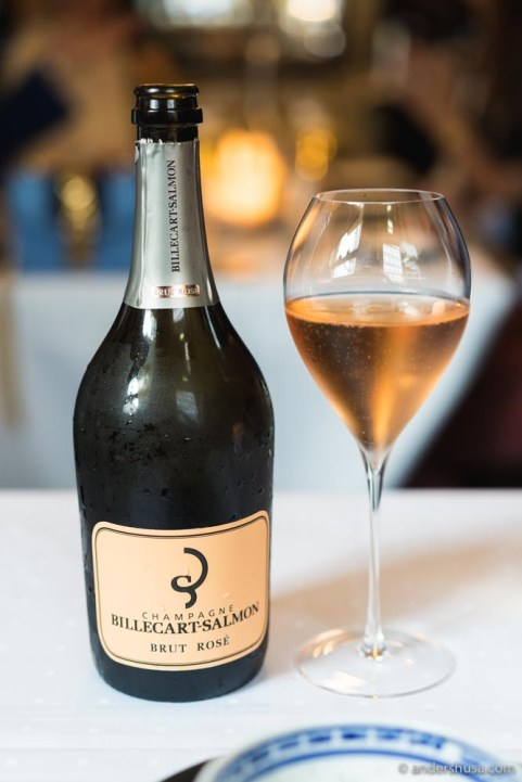 Champagne is the only way to start a meal at Palace Grill.