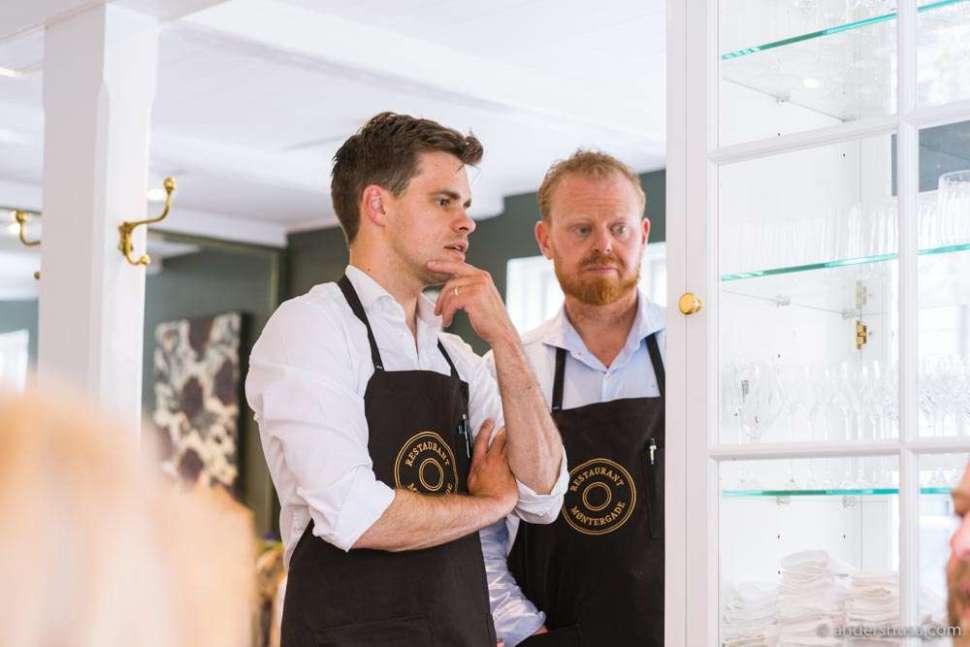 Head sommelier Rasmus Amdi Larsen and restaurant manager Simon Olesen.
