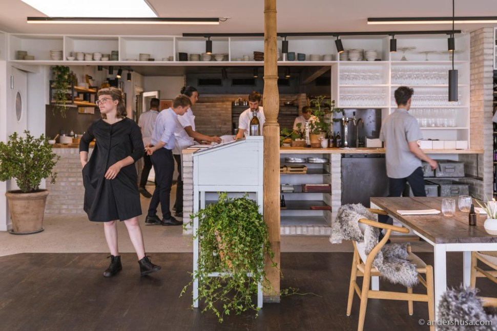 The new Kadeau Bornholm has an open kitchen!