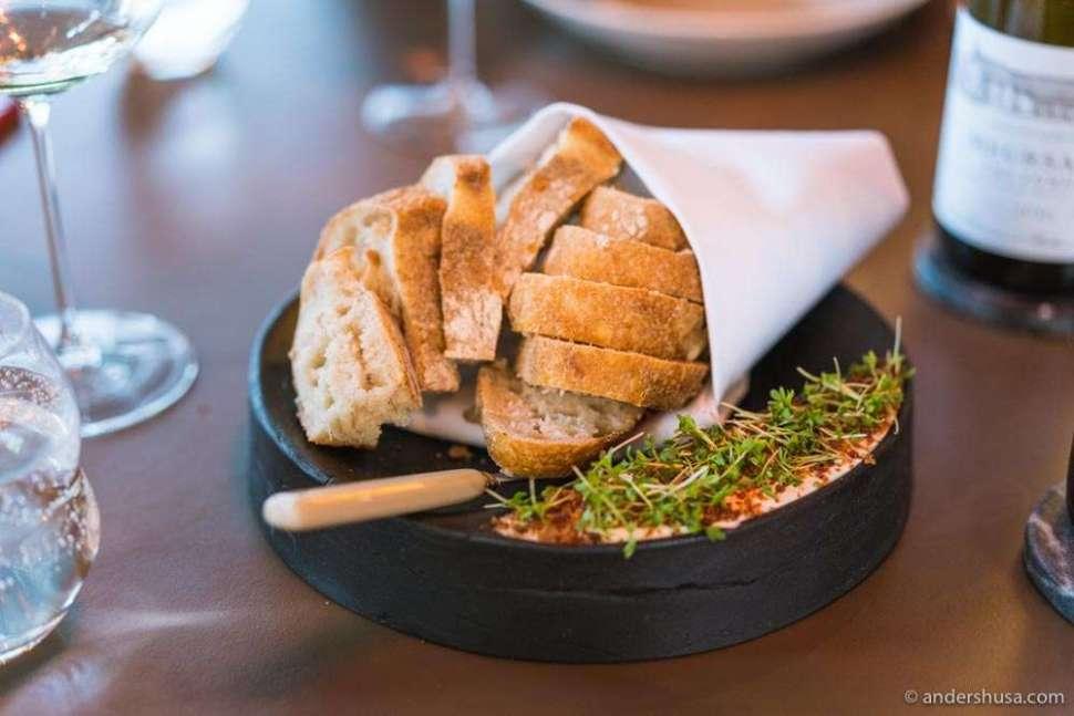 Tango's bread serving.