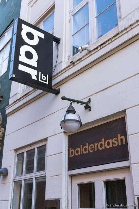 Balderdash is our favorite cocktail bar in Copenhagen.