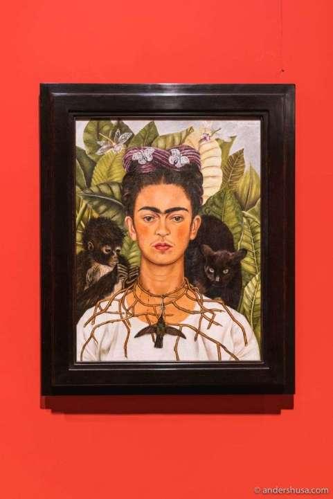 "Frida Kahlo in the ""Fantastic Women"" exhibit."