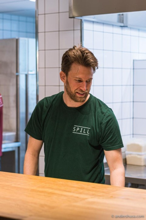 Head chef Erik Andersson Mohlin.