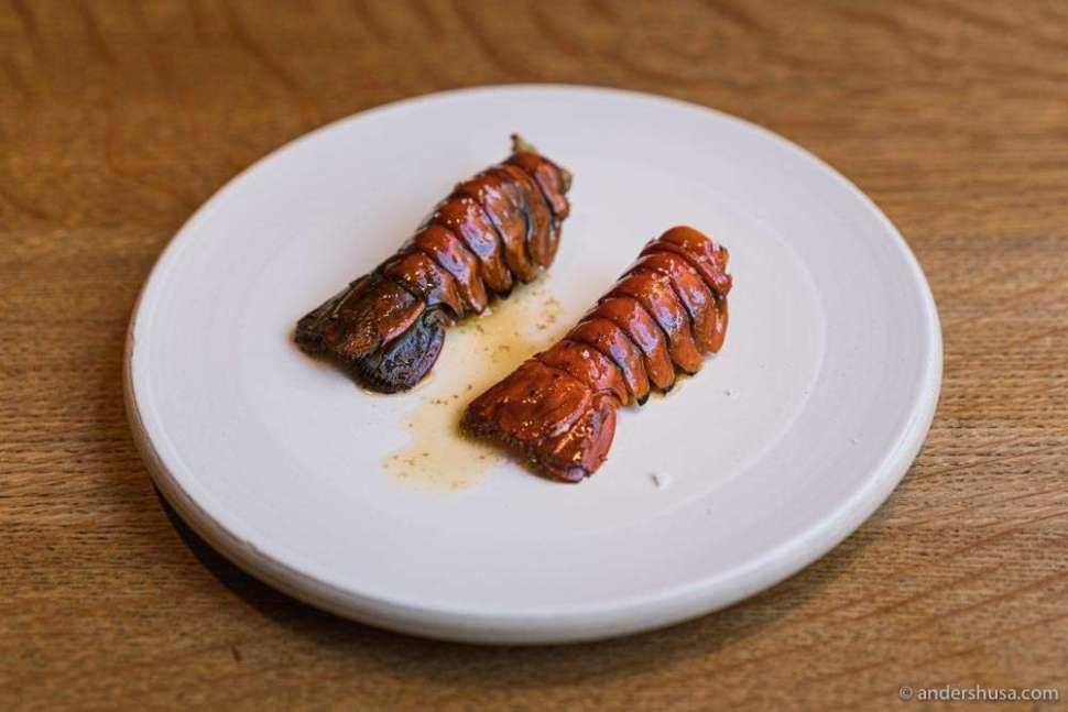 Danish crayfish in an XO sauce of charcuterie trims.