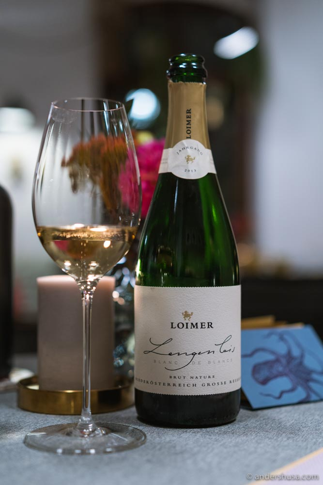 The toasty, creamy Langenlois Blanc de Blancs 2013 was one of our favorites from Loimer.