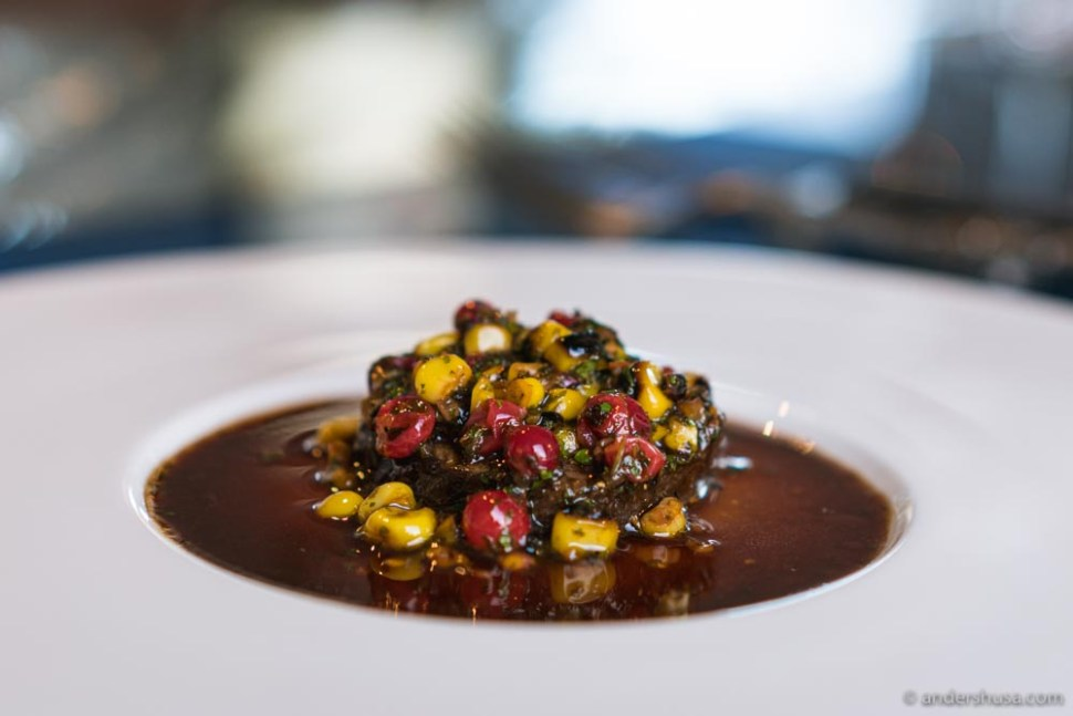 Deer, sweet corn, and red currants.