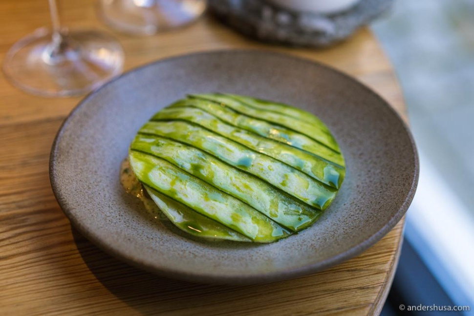 At no. 25 is the zucchini and potato dish from Söl in Stavanger, Norway.