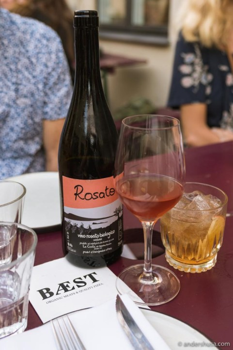 One of our favorite wines, Le Coste Rosato.