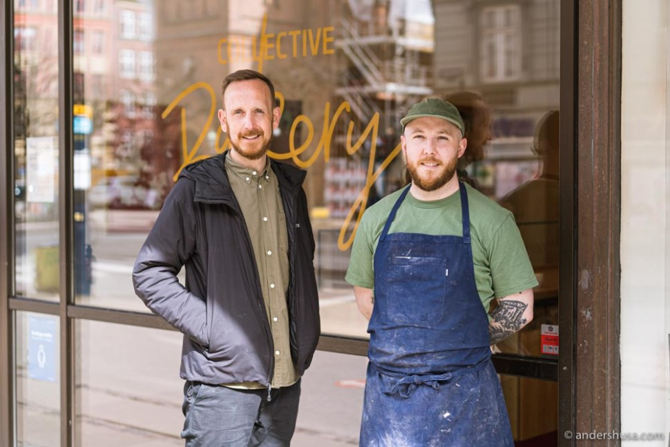 Klaus Thomsen from Coffee Collective and Collective Bakery's head baker Michael Craig.