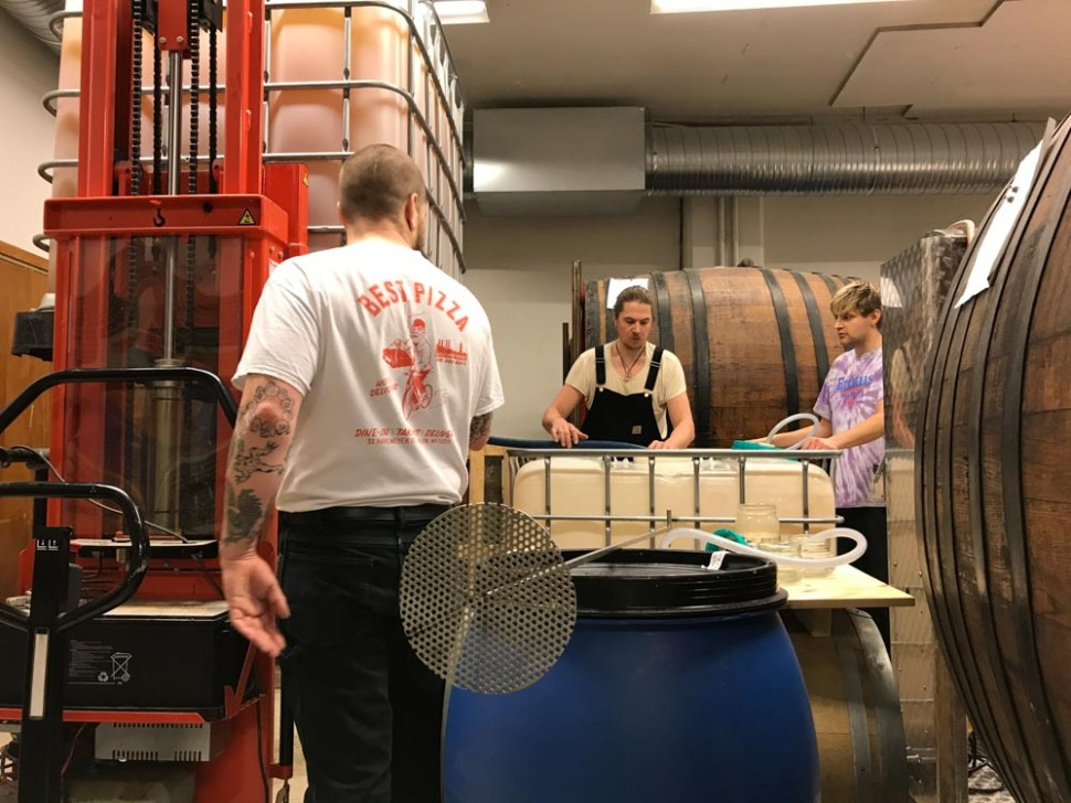 The Brutus guys in their current cider production room. Photo: Mold.