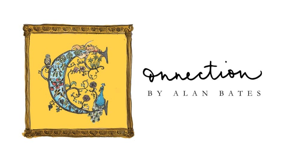 The logo for Connection by Alan Bates was drawn by Joanna Hu.