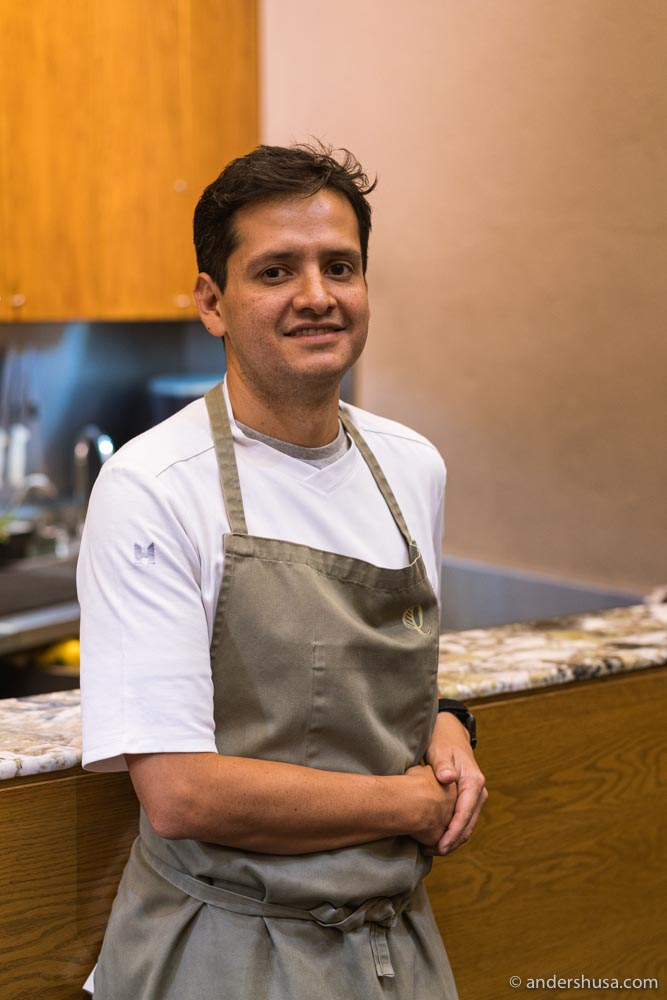 Jorge Vallejo is the chef and owner of restaurant Quintonil in Mexico City.