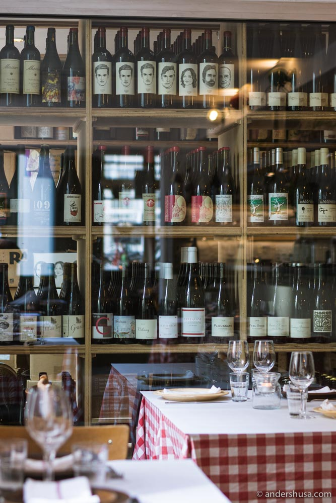 A peek into Silberbauer's all-natural wine cellar.