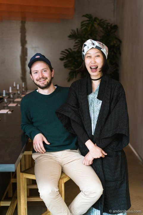 Chef Philipp Inreiter and kimchi queen Kala Sung.