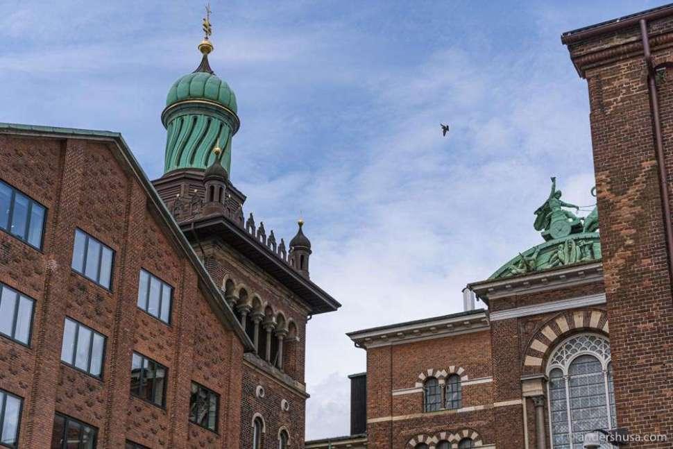 Carlsberg Byen has some of the most striking architecture in Copenhagen.