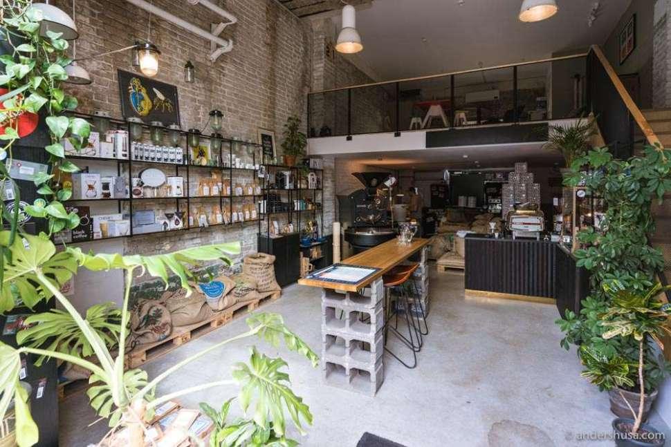 Kokomo Coffee is located in the Põhjala Tehas neighborhood of Tallinn.