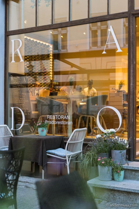 Rado is a charming bistro located in Tallinn's old town.