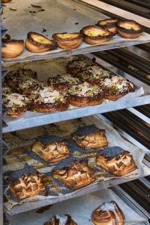 The vast selection of pastries at Karjase Sai.
