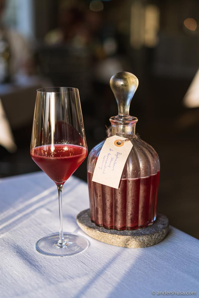 One of the house-made juices in the non-alcoholic pairing.