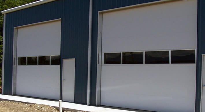 commercial garage door installation in Millville, UT