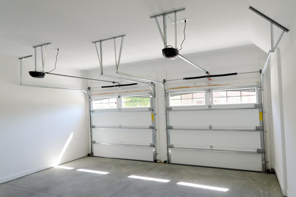 inside of a garage with a garage in logan utah