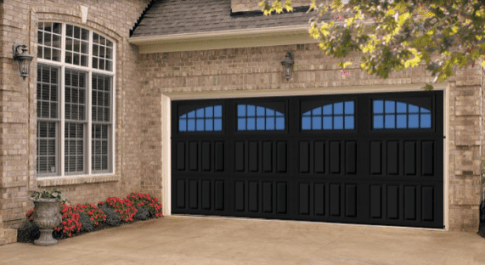 black garage door utah