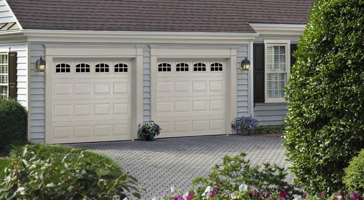 heritage white garage doors