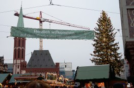 Welcome to christmas market Frankfurt am Main