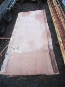 """#513 (lot #2). Redwood (107""""L x 48""""W x 3""""T) $2,354"""