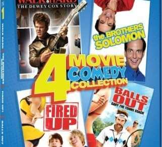 COMEDY 4 IN 1: WALK HARD/THE BROTHERS SOLOMON/FIRED UP!/BALLS OUT 10