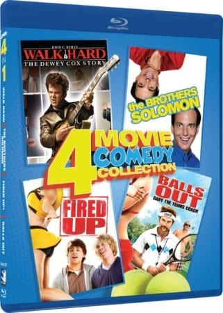 COMEDY 4 IN 1: WALK HARD/THE BROTHERS SOLOMON/FIRED UP!/BALLS OUT 3