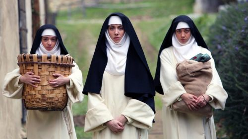 Dave Franco, Aubrey Plaza, Alison Brie in THE LITTLE HOURS | In Theaters June 30th 1